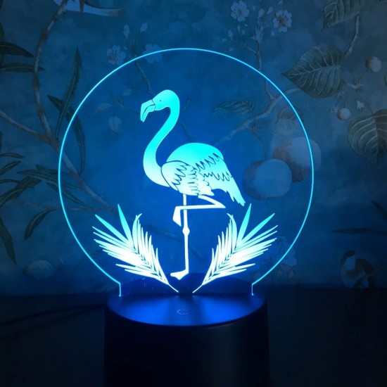 3D Sevimli Flamingo Lamba