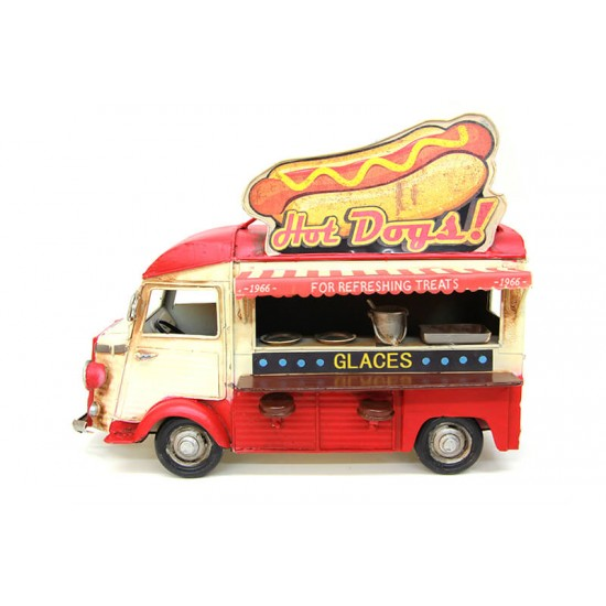 Dekoratif Metal Fast Food Arabası