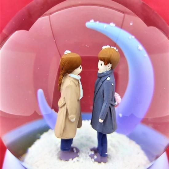 Aşk Sıcaklığı Büyük Boy Püskürtmeli Kar Küresi