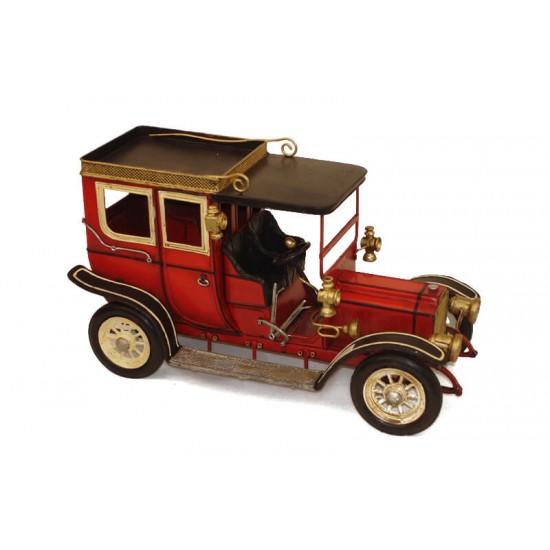 Ford Classic Coupe Dekoratif Metal Araba Kırmızı