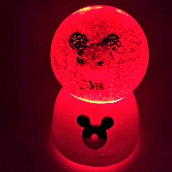 Happy Mouse Işıklı Büyük Boy Püskürtmeli Kar Küresi