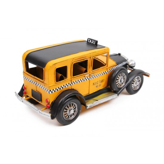 Ford Window Coupe Taksi Dekoratif Metal Araba