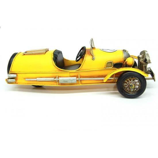 Klasik Yarış Arabası Dekoratif Metal Araba