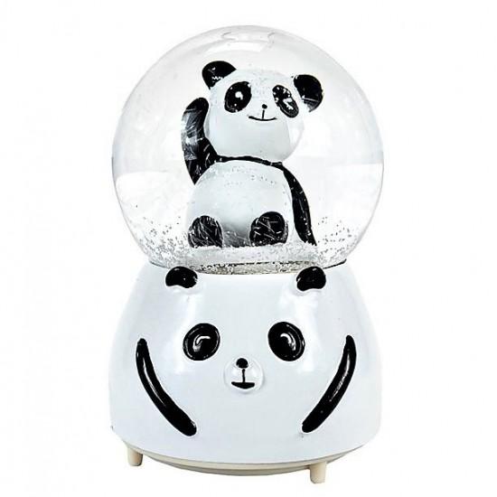 Panda Işıklı Motorlu Püskürtmeli Büyük Boy Kar Küresi