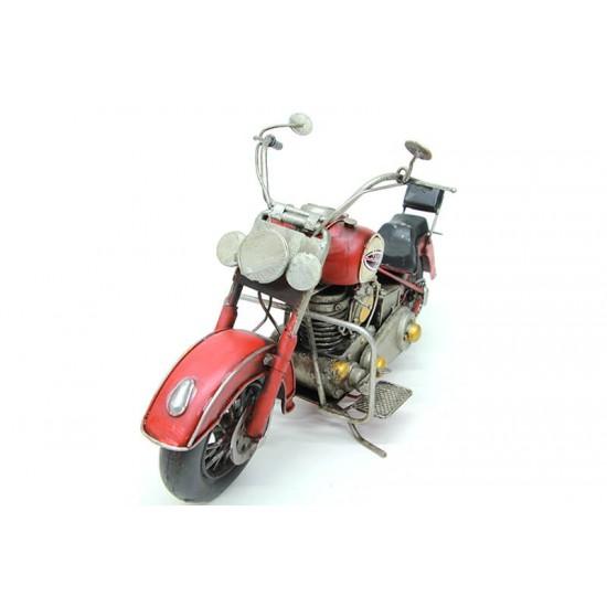 Dekoratif Metal Motosiklet Kırmızı