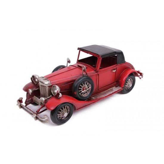 Klasik Dekoratif Metal Araba Kırmızı Siyah