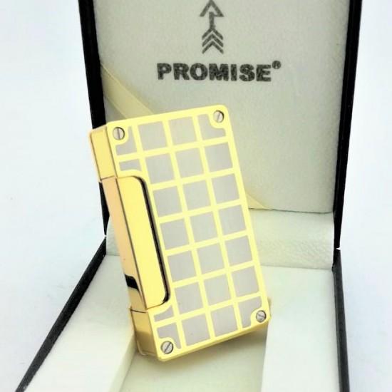 Pürmüz Alevli Premium Kareli Çakmak Promise Sarı