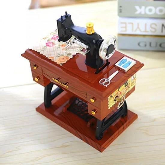 Dikiş Makinesi Görünümlü Müzik Kutusu