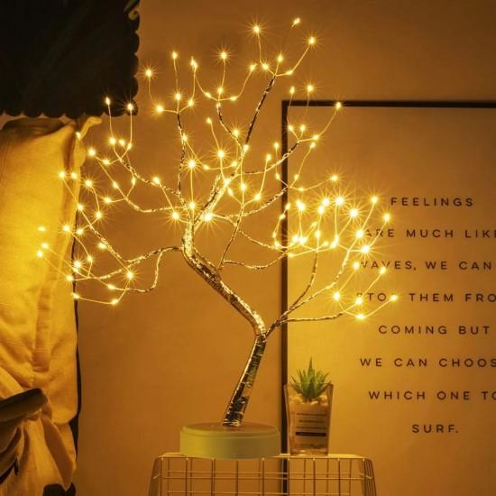 Dekoratif Ağaç Tasarımlı Peri Lamba