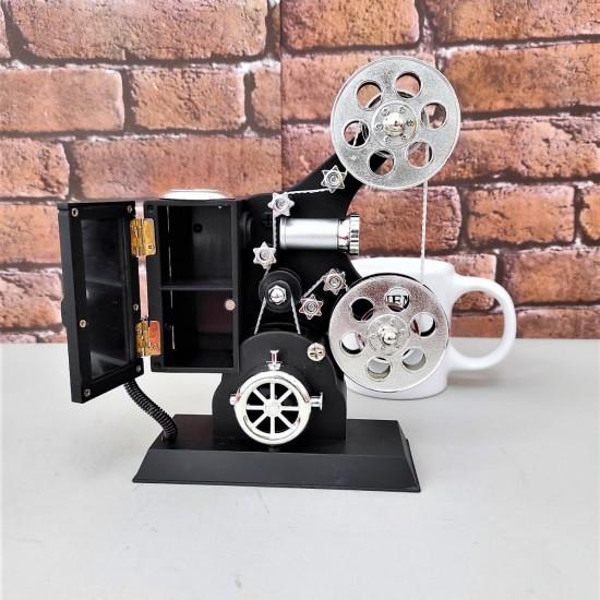 Film Makinesi Müzik Kutusu Ve Klalet Kupa Bardak Seti
