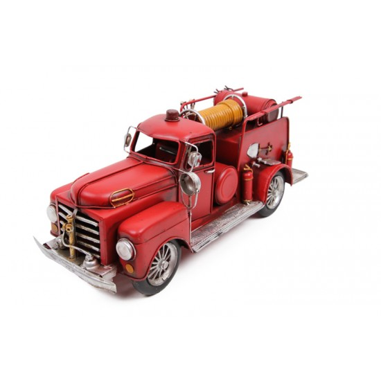 Dekoratif Metal İtfaiye Arabası