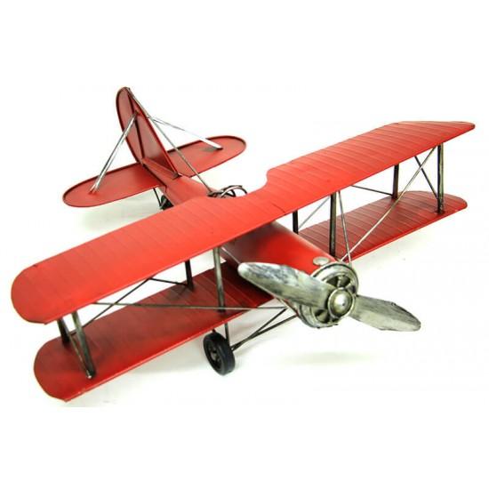 Dekoratif Metal Çift Kanatlı Uçak