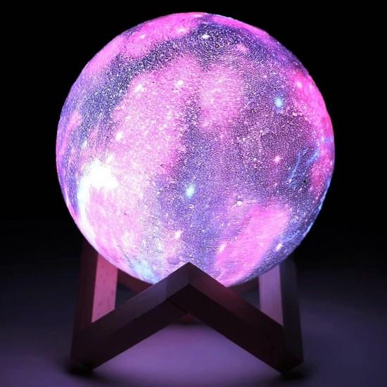 Galaksi Gezegen Gece Lambası 3D Ay Lamba