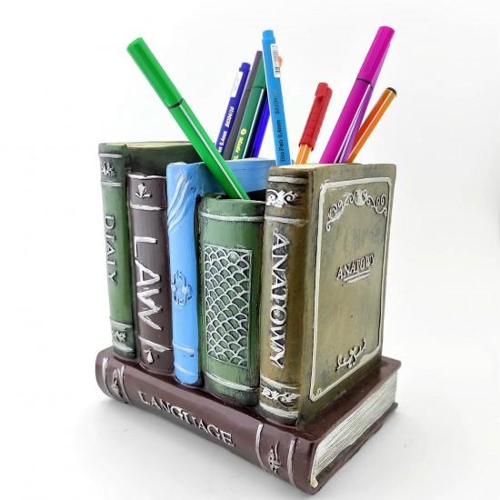 Retro Kitap Tasarımlı Kalemlik