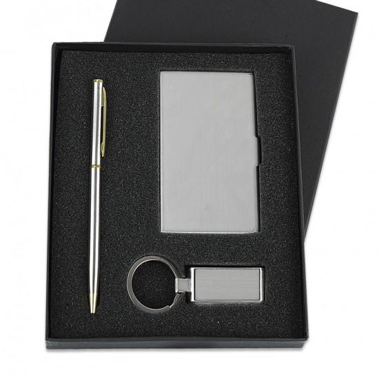Kişiye Özel Metal Kartvizitlik Anahtarlık Ve Kalem Seti