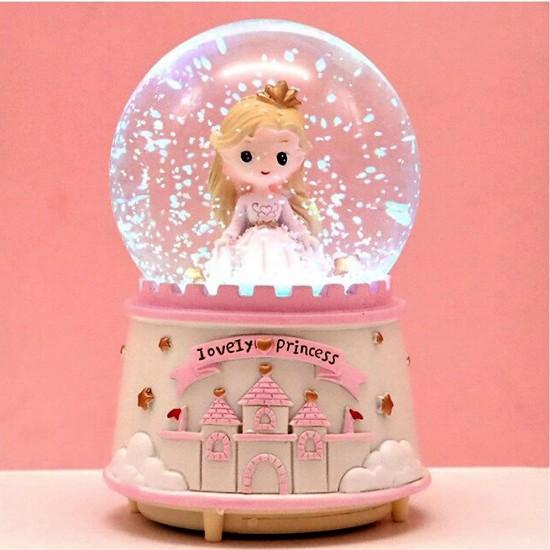Sevimli Prenses Işıklı Müzikli Kar Küresi