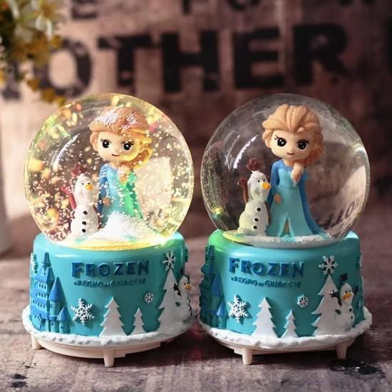 Elsa Temalı Işıklı Müzikli Büyük Boy Kar Küresi