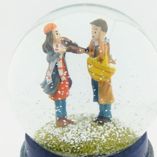 Kış Masalı Keman Dinletisi Işıklı Müzikli Kar Küresi