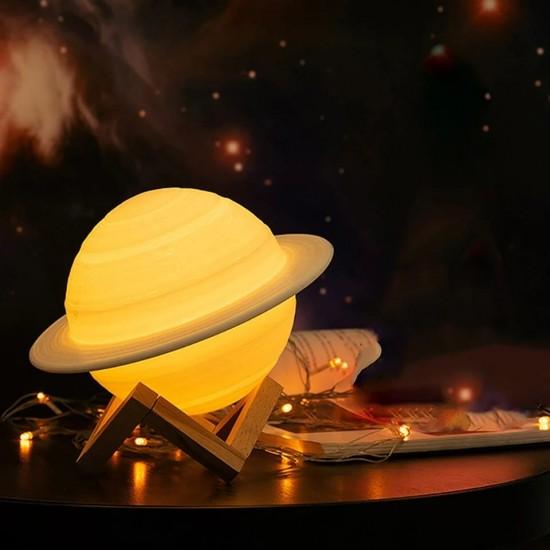Satürn Dokunmatik Kumandalı Gece Lambası