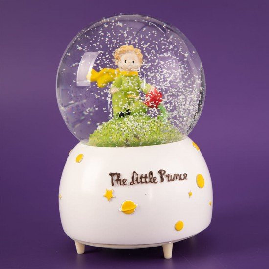 Küçük Prens Işıklı Müzikli Kar Küresi