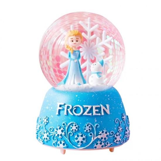 Frozen Temalı Işıklı Müzikli Motorlu Büyük Boy Kar Küresi