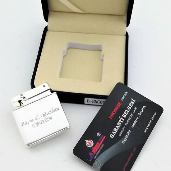 Promise Markalı Benzinli Exclusive Silver Çakmak