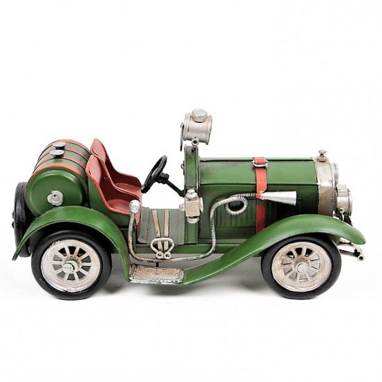 Dekoratif Chevrolet Classic  Street Rod Metal Araba  Yeşil