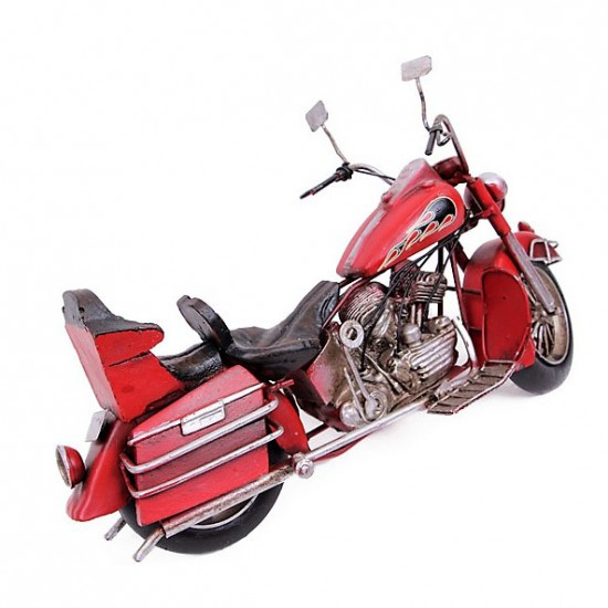 Dekoratif Cruiser Motorsiklet (Kırmızı)