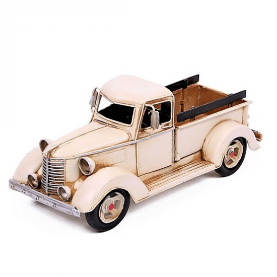 Dekoratif Ford Kamyonet Metal Araba ( Beyaz )