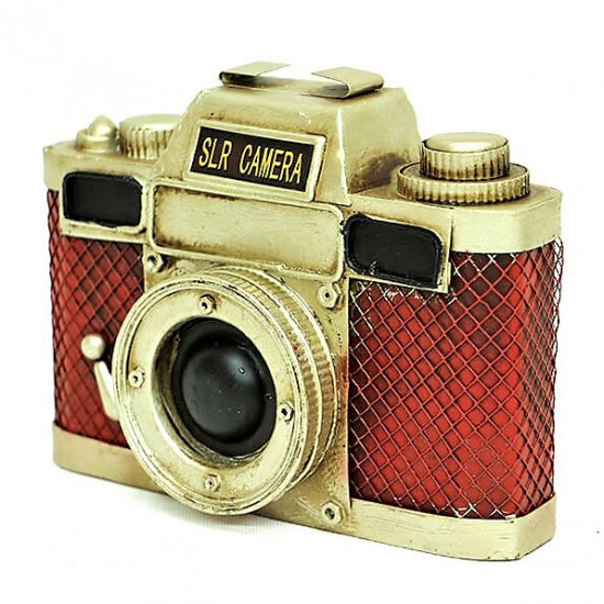 Dekoratif Metal Fotoğraf Makinesi