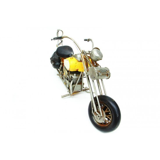 Dekoratif Metal Motosiklet Sarı