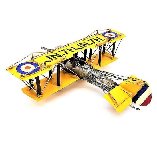 Dekoratif  Metal Savaş Uçak Çift Kanatlı
