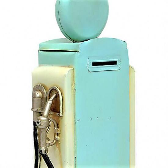 Dekoratif Metal Yakıt Pompası Mavi