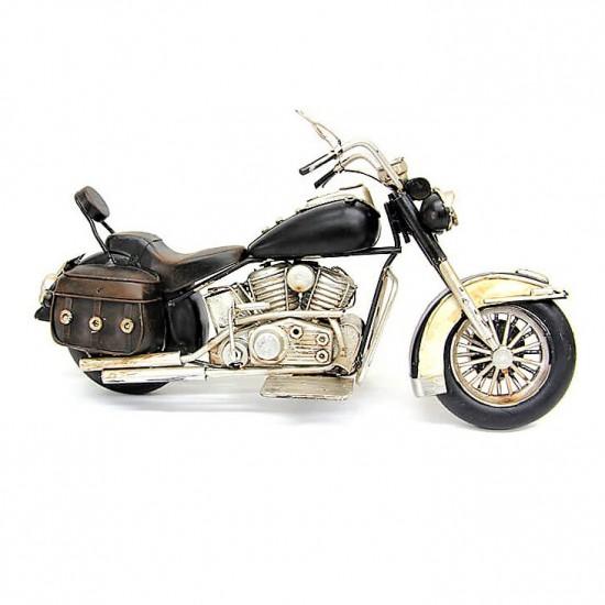 Dekoratif Nostaljik Chopper Motosiklet Siyah