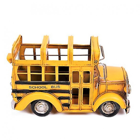 Metal Amerikan Okul Otobüsü Ve Kalemlik Büyük Boy