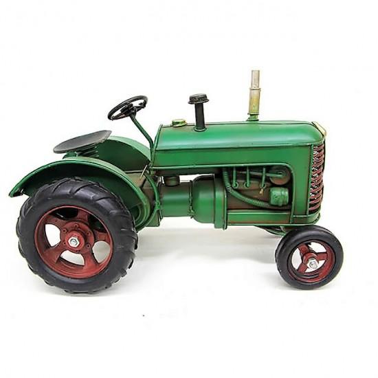 Dekoratif Nostaljik Metal Bahçe Traktör Büyük Boy
