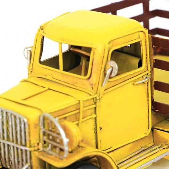 Dekoratif  Nostaljik Metal Kamyonet Sarı