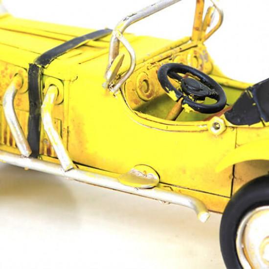 Dekoratif Nostaljik Metal Klasik Araba Sarı