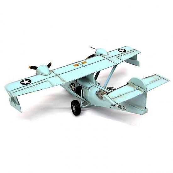 Dekoratif Nostaljik Metal Nakliye Uçak