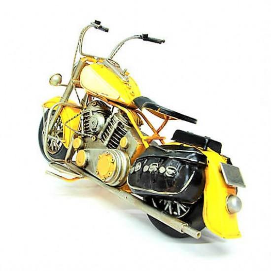 El yapımı Metal 1936 İndian Chief Nostaljik Motosiklet Sarı