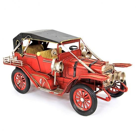 El Yapımı Nostaljik  Ford  Jeep Metal  Araba Kırmızı