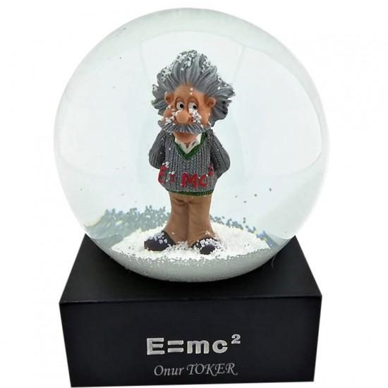 Albert Einstein Kişiye Özel Kar Küresi