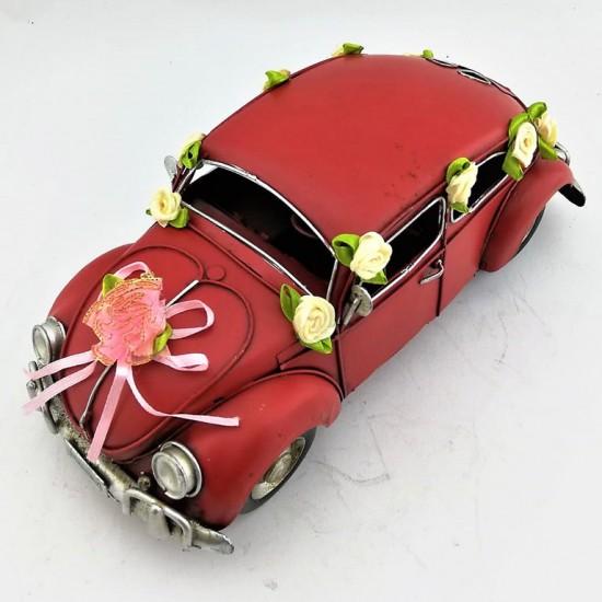 Nostaljik Vosvos Tasarımlı Metal Gelin Arabası