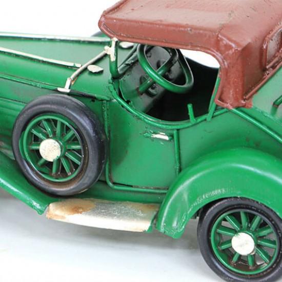 Dekoratif Metal Araba Yeşil