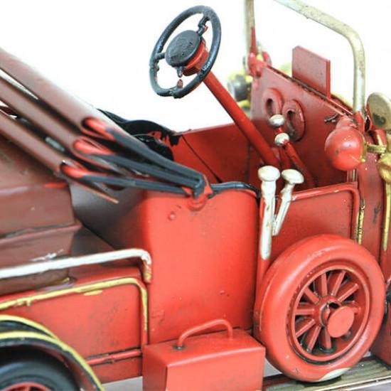 Dekoratif Nostaljik Üstü Açık  Metal Klasik Araba