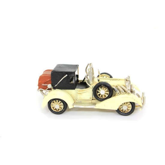 El Yapımı antika Jeep Metal  Araba