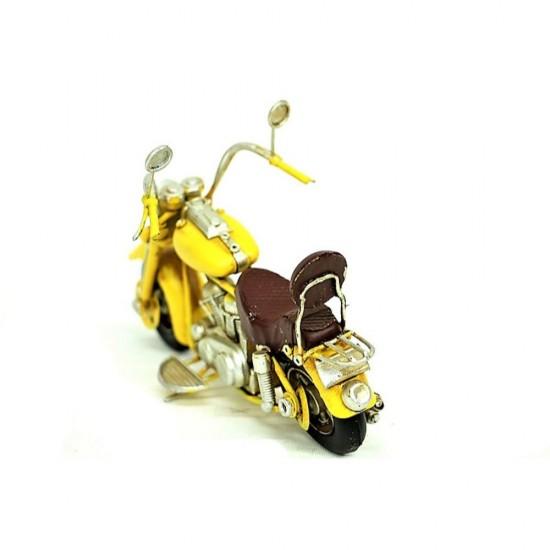 Elyapımı Metal Nostajik  Motorsiklet Sarı