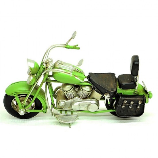 El Yapımı Metal Nostajik Motorsiklet  Yeşil