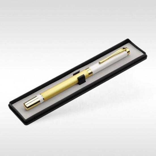 Kişiye Özel Altın Beyaz Tükenmez Kalem Seti