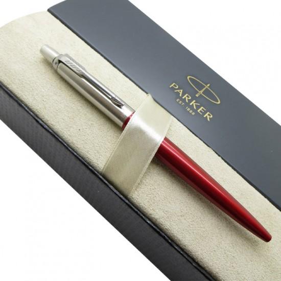 Kişiye Özel Parker Jotter Kırmızı Gümüş Tükenmez Kalem